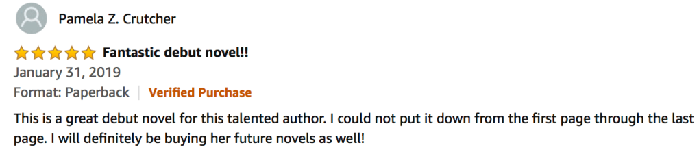 5-star review of The Orderly by Pamela Z. Crutcher